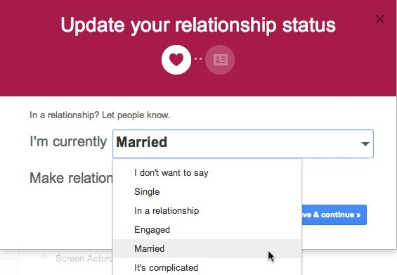 how to change relationship status
